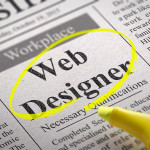 Designer Coder Jobs in Newspaper. Job Search Concept.