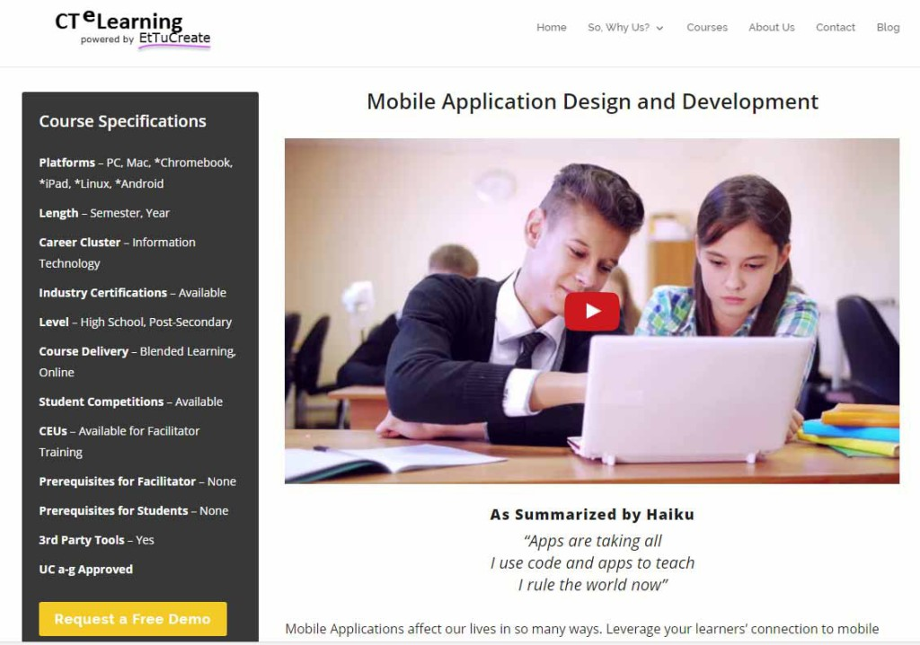 STEM CTE UC a-g Mobile Application Design Course