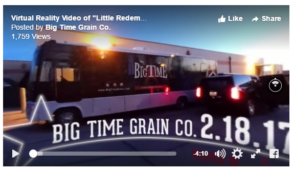 Big Thanks to Big Time Grain Co. – BTW a 360 Video – A great internship partner.