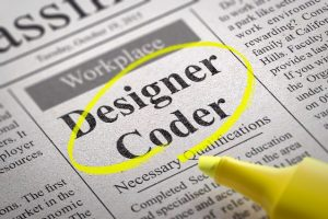 pic High Demand Designer Coder Jobs in Newspaper.