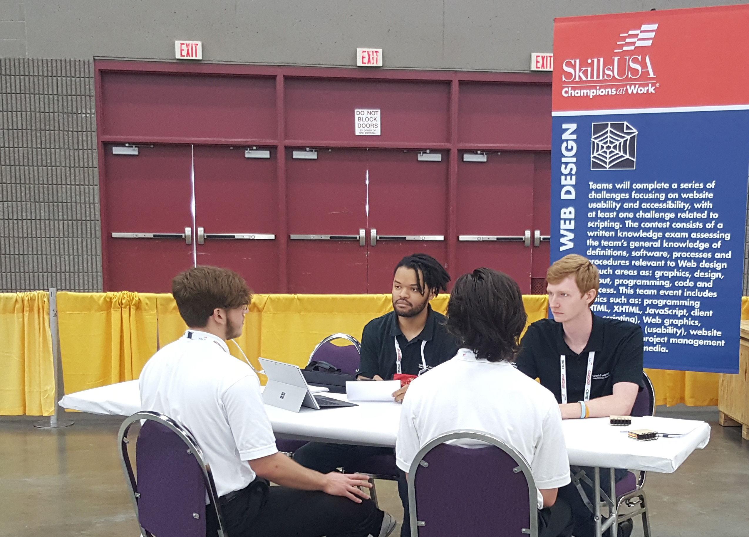 SkillsUSA Web Design Judging